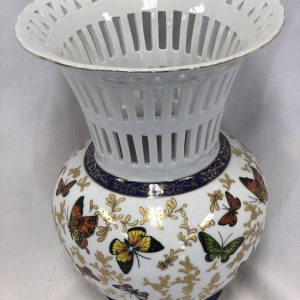 Vintage Butterfly Monarch Vase