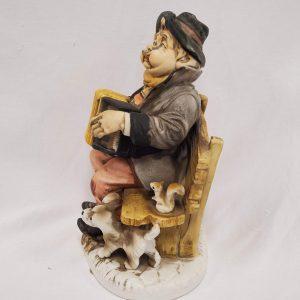 Vintage Collectible Accordion Ceramic Figurine