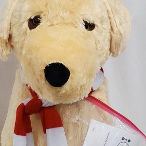 Santa Stuffed Dog