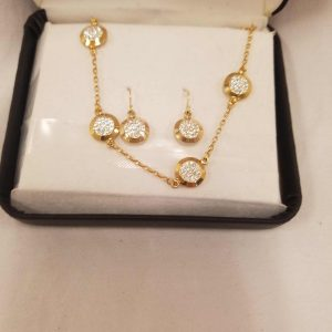 Gold Necklace & Earings Set