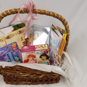 Little Girls Reading Basket