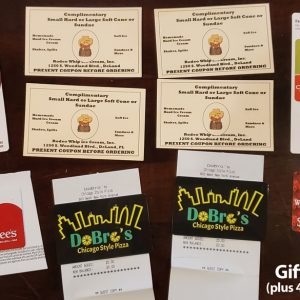 A Bunch of Gift Cards for Local Restaurants